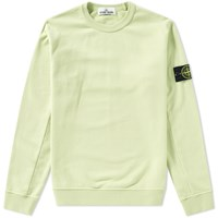 Stone Island Garment Dyed Fleece Crew Sweat Green