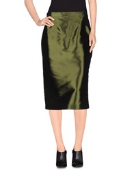 Gai Mattiolo Skirts 3 4 Length Skirts Women Dark Green