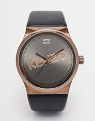 Kenzo Logo Bronze Detail Watch Brown