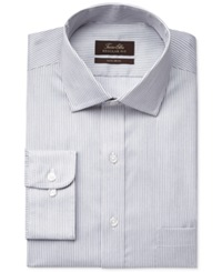 Tasso Elba Non Iron Twill Bengal Stripe Dress Shirt Only At Macy's