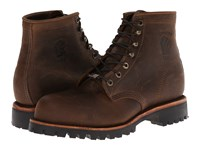 Chippewa Apache Steel Toe Lace Up Chocolate Men's Boots Brown