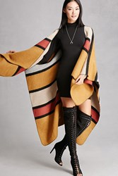 Forever 21 Woven Heart Multicolored Shawl Mustard