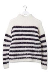 Stripe Knitted Jumper By Boutique White