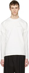 Vetements White Hanes Edition Fitted Double Securite T Shirt