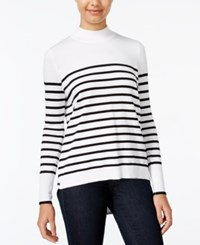 Xoxo Juniors' Chiffon Back Striped Sweater Ivory Black