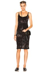 Raquel Allegra Layering Tank Dress In Black Ombre And Tie Dye Black Ombre And Tie Dye