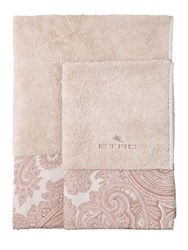 Etro Sendai Set Of Two Towels Beige