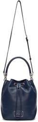 Marc By Marc Jacobs Navy Large New Too Hot To Handle Bucket Bag