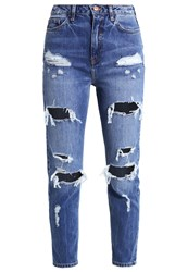 New Look Mom Sambuca Relaxed Fit Jeans Mid Blue