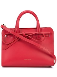Mansur Gavriel Bow Front Tote Bag Women Leather One Size Red