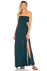 Indah Allegra Strapless Dress Teal