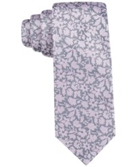 Ryan Seacrest Distinction Men's Palisades Floral Slim Tie Only At Macy's Char Pink