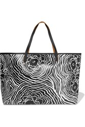 See By Chloe Jude Medium Leather Trimmed Printed Pvc Tote Black