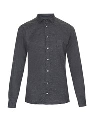 Richard James Point Collar Fleck Flannel Shirt