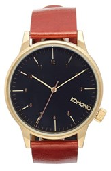 Komono Men's 'Winston Regal' Leather Strap Watch 41Mm
