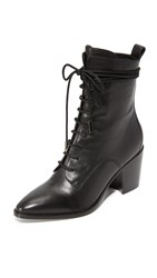 Sigerson Morrison Duran Lace Up Boots Black