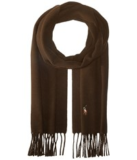 Polo Ralph Lauren Signature Wool Scarf Brown Marled Scarves
