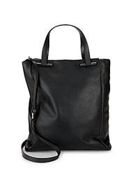 Halston Minimalistic Leather Handbag Charcoal