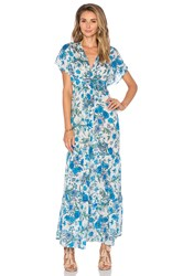 Eight Sixty Jenny Hutt Maxi Dress Blue