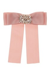 Cara Accessories Pink Ribbon Pin With Large Floral Embellishment