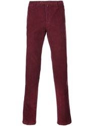 Kiton Slim Corduroy Chinos Purple