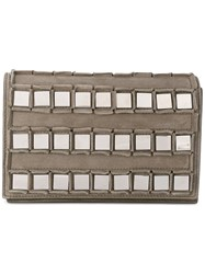 Tomasini Embellished Clutch Women Calf Suede One Size Green