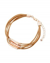 Fragments For Neiman Marcus Multi Row Cord Bracelet Brown
