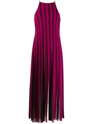 Michael Michael Kors Striped Maxi Dress Pink