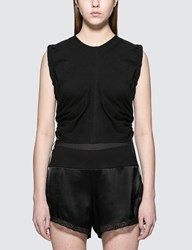 Alexander Wang High Twist Jersey Crop Top With Wide Ties
