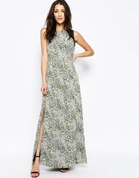 Sugarhill Boutique Lottie Maxi Dress In Smudge Print Multi