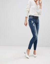 B.Young Embroidered Jeans Antique Blue