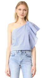 Cooper And Ella Livia One Shoulder Top Baby Blue
