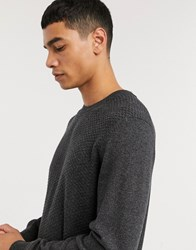 Ben Sherman Mouline Knitted Jumper Grey