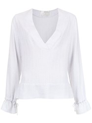 Lilly Sarti Claire Stripes Blouse White