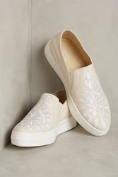 Anthropologie Seychelles Embroidered Canvas Sneakers Neutral