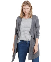 Violeta By Mango Plus Size Open Front Cardigan Dark Heather Grey