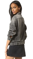 R 13 Pinned Waistband Trucker Jacket Emboyo Vintage