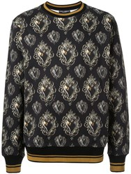 Dolce And Gabbana Printed Sweatshirt Black