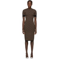 Black And Brown 'Forever Fendi' Dress