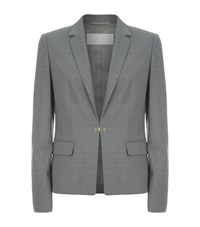 Hugo Boss Wool Tailored Blazer Female Dark Grey