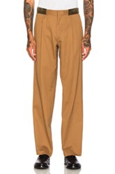 Kolor Cotton Trousers In Brown