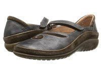 Naot Footwear Matai Black Pearl Leather Hash Suede Women's Maryjane Shoes Gray