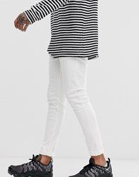 Bershka Skinny Jeans In White With 5 Pockets White