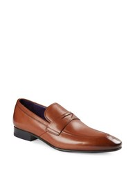 Ted Baker Leather Penny Loafers Tan