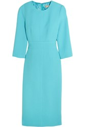 Michael Kors Collection Stretch Wool Boucle Dress Light Blue