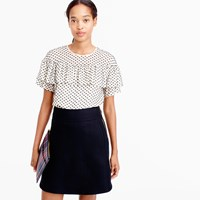 J.Crew Tall Edie Top In Textured Clip Dot
