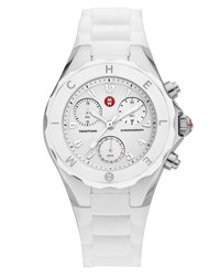 Michele Tahitian Large Jelly Bean Chronograph White Steel