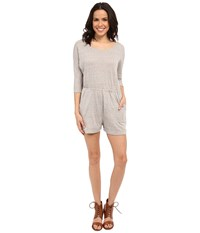 Brigitte Bailey Lexy Front Pocket Romper Light Heather Grey Women's Jumpsuit And Rompers One Piece Silver