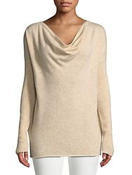 Cashmere Saks Fifth Avenue Ribbed Cowlneck Sweater Light Ice