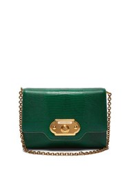 Dolce And Gabbana Welcome Iguana Effect Leather Clutch Green